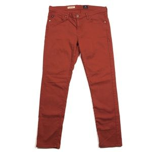 AG Burnt Orange Stevie Ankle Slim Straight Jean